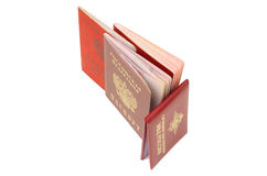 Russian identification papers Stock Photo