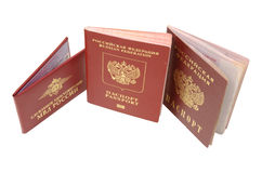 Russian identification papers Stock Photos