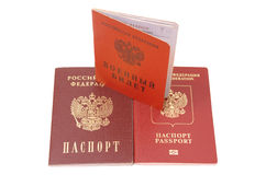 Russian identification papers Stock Images