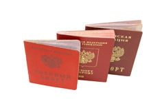 Russian identification papers Royalty Free Stock Photo