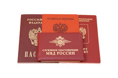 Russian identification papers Stock Photography