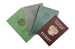 Russian identifying documents Royalty Free Stock Photo