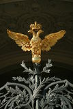 Russian Imperial Eagle. Golden statue of the Emperial Eagle - an emblem of the monarchical Russia stock photos