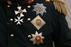 Russian imperial military decorations Stock Photos