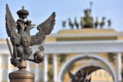 Russian Imperial Symbol of Double Headed Eagle Royalty Free Stock Image