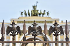 Russian Imperial Symbol of Double Headed Eagle Royalty Free Stock Photography