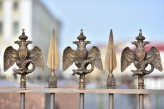 Russian Imperial Symbol of Double Headed Eagle Royalty Free Stock Photos