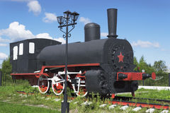 Russian industrial locomotive beginning of the 1900s Royalty Free Stock Images