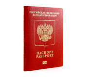 Russian international passport. Isolated on white Royalty Free Stock Photos