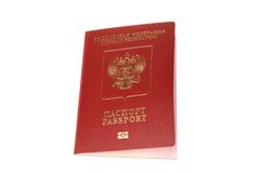 Russian international passport isolated on white Stock Photography