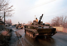 RUSSIAN INVASION OF CHECHNYA Stock Images