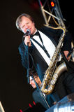 Russian jazz musician Igor Butman performs Royalty Free Stock Images