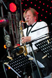 Russian jazz musician Igor Butman performs Royalty Free Stock Image