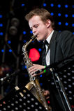 Russian jazz musician Igor Butman performs Royalty Free Stock Photos
