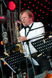 Russian jazz musician Igor Butman performs Stock Images