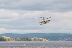 Helicopter Ka-52 Hokum B. Russian Kamov helicopter Ka 52 Hokum B Alligator aerobatics Stock Images