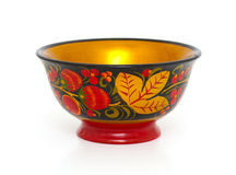 Russian Khokhloma bowl Stock Photography