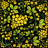Russian khokhloma painting style seamless pattern Stock Photography