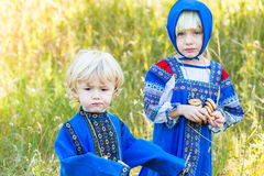 Russian kids Stock Photos