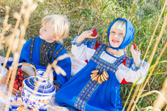 Russian kids Royalty Free Stock Photo