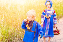 Russian kids Royalty Free Stock Photography