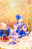 Russian kids Royalty Free Stock Image