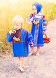 Russian kids Stock Photo