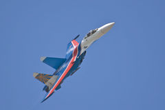 The Russian Knights in air Stock Photos