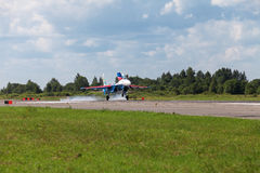 Russian Knights plane Royalty Free Stock Photography