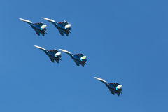 Russian Knights team Royalty Free Stock Photos