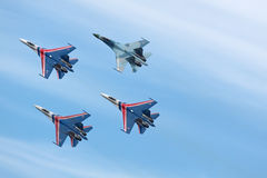 Russian Knights, top view Stock Images