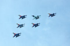 Russian Knights, top view Stock Image