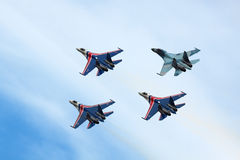 Russian Knights, top view Royalty Free Stock Photography