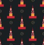 Russian kremlin seamless pattern Stock Photo