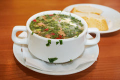Russian kvass soup Stock Photo