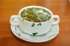 Russian kvass soup Stock Images