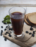 Russian kvass - traditional drink made of rye bread Stock Photos