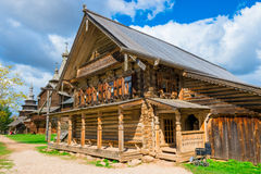 Russian l house in the village Royalty Free Stock Photo