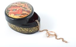 Russian lacquered miniature Royalty Free Stock Photos