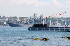 Russian landing ship Novocherkassk Royalty Free Stock Images