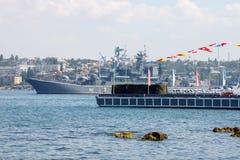 Russian landing ship Novocherkassk. Ukrainian Fleet Day and Day of Russian Navy in Sevastopol, Ukraine, 29 of July 2012 Royalty Free Stock Images