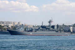 Russian landing ship Novocherkassk. Ukrainian Fleet Day and Day of Russian Navy in Sevastopol, Ukraine, 29 of July 2012 Royalty Free Stock Image
