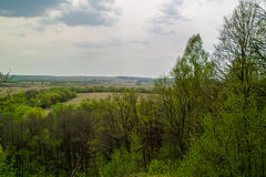 Russian landscape in the Kaluga region. Stock Photos