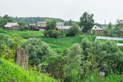 Russian landscape in the Kaluga region. Royalty Free Stock Photography