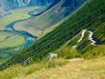 Russian landscape. Picturesque Altaic landscape with river Stock Image