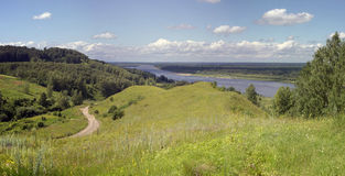 Russian Landscape. View Of The Oka River Stock Images
