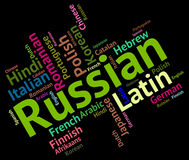 Russian Language Means Foreign Wordcloud And Text Stock Photos