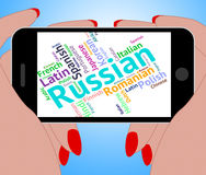 Russian Language Represents International Words And Word Stock Images