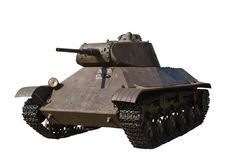 Russian light tank T-50 isolated Royalty Free Stock Photography