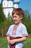 Russian little boy Stock Photography